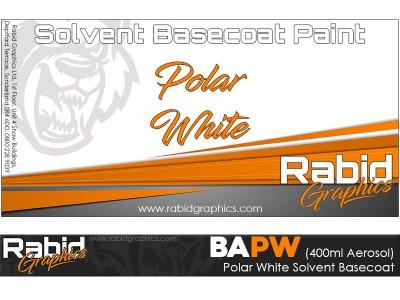 Polar White Solvent Basecoat Aerosol (400ml)