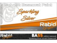 Sparkling Silver Solvent Basecoat Aerosol (400ml)