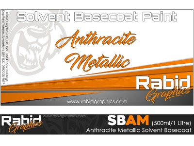 Anthracite Metallic Solvent Basecoat (500ml/1 Litre)