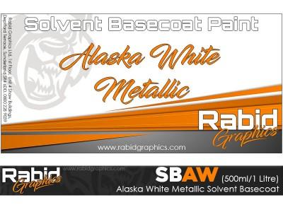 Alaska White Metallic Solvent Basecoat (500ml/1 Litre)