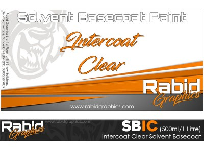 Intercoat Clear Solvent Basecoat (500ml/1 Litre)