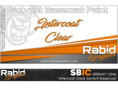 Intercoat Clear Solvent Basecoat (500ml/1 Litre)