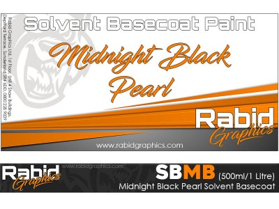 Midnight Black Pearl Solvent Basecoat (500ml/1 Litre)