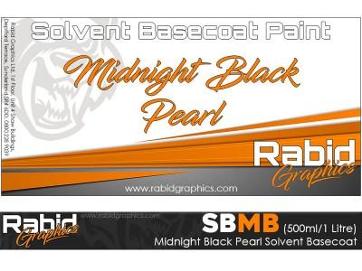 Midnight Black Pearl Solvent Basecoat (500ml/1 Litre)