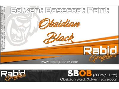 Obsidian Black Solvent Basecoat (500ml/1 Litre)