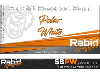 Polar White Solvent Basecoat (500ml/1 Litre)