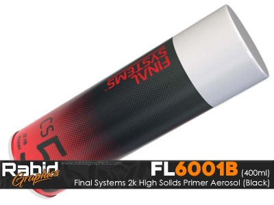 FInal Systems CS50 Aerosol 2K High Build Primer (Black) 400ml