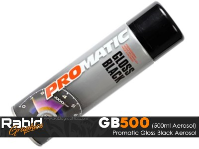 ProMATIC Aerosol Gloss Black (500ml)