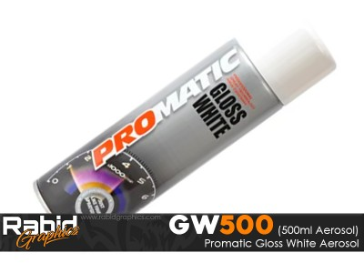ProMATIC Aerosol Gloss White (500ml)