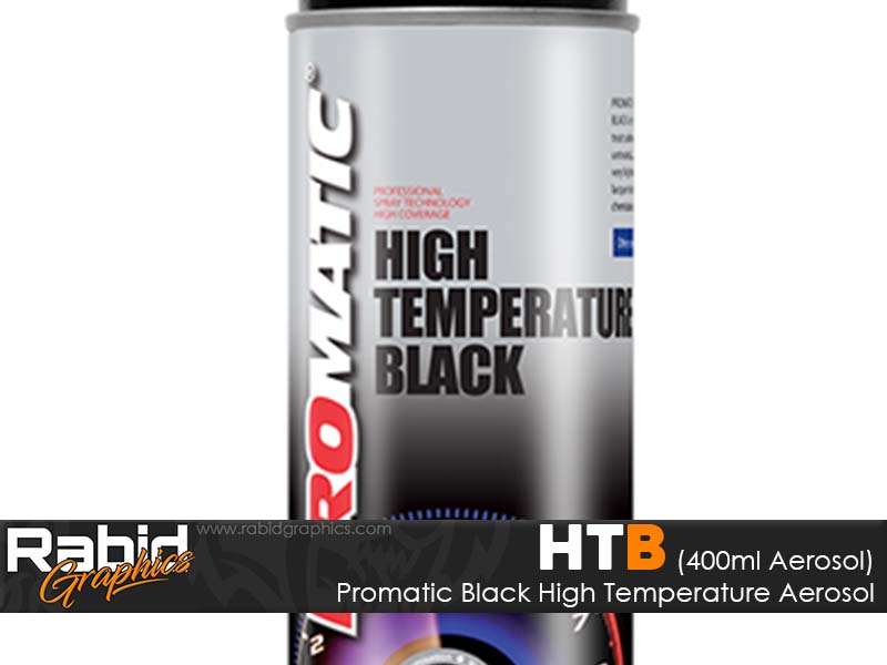 Promatic High Temperature Aerosol - Black (400ml)