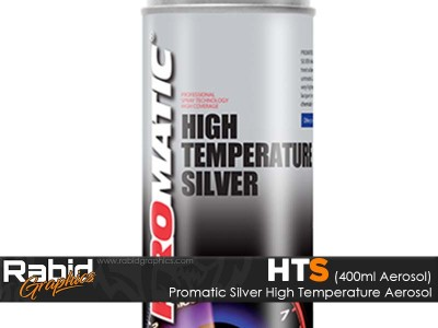 Promatic High Temperature Aerosol - Silver (400ml)