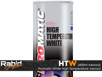 Promatic High Temperature Aerosol - White (400ml)