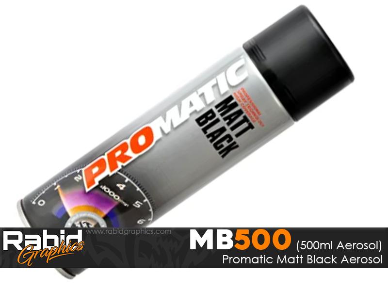 ProMATIC Aerosol Matt Black (500ml)