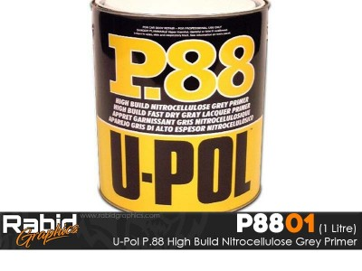 U-Pol P.88 High Build Nitrocellulose Grey Primer (1 Litre)
