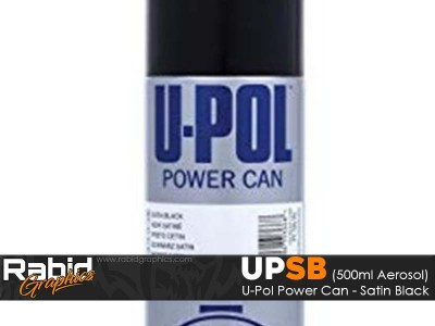U-Pol Power Can - Satin Black (500ml)